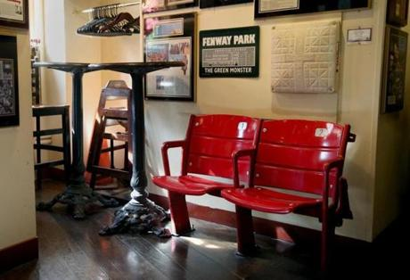 Fenway Park seats at Union Oyster House.